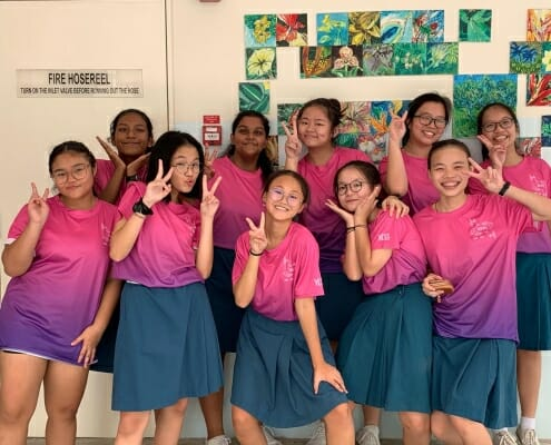 Yuan Ching Secondary School Class Tee printing and design in Singapore