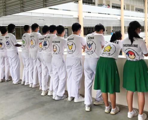 class tshirt printing design in Singapore. pokemon class t-shirt design