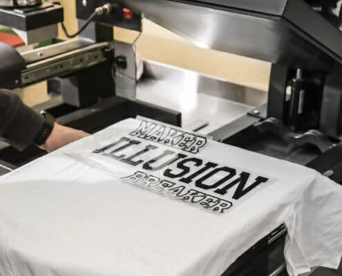 class tee printing and design using heat transfer printing in singapore